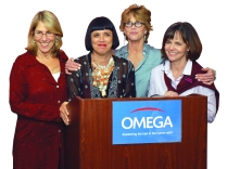 Elizabeth Lesser, Eve Ensler, Jane Fonda, and Sally Field